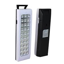 battery powered emergency lights real dp 30 led rechargeable emergency l light 5 hrs back auto
