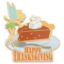 thanksgiving pin tinker bell with pumpkin pie