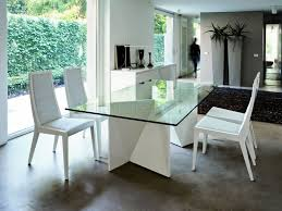 Contemporary Glass Dining Room Tables by Kitchen 81 Small Modern Glass Dining Table With Lucite Bases And