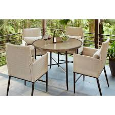 Outdoor Table Set by Bar Height Dining Sets Outdoor Bar Furniture The Home Depot