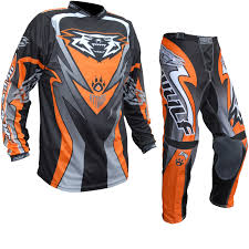 orange motocross gear wulf attack motocross jersey u0026 pants orange kit new