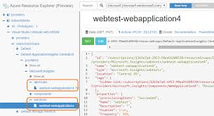 creating an application insights web test and alert