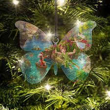 thomas kinkade peter pan butterfly ornament 8553964 hsn