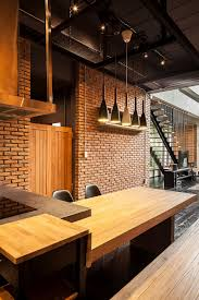 industrial lighting kitchen industrial and modern side by side two houses in bangkok