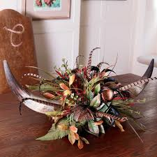 Western Style Centerpieces by Bull Horn Centerpiece Decoration Home Red Yarrow Double Horn
