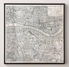 san francisco map framed maps rh