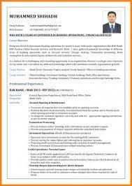 banking resume exles 6 bank cv format credit letter sle