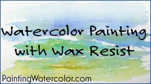 watercolor painting with wax resist youtube