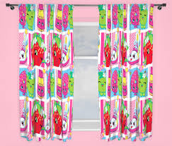 Mini Mouse Curtains by New Shopkins Shopaholic Pink Curtains Pair Girls Kids Blue