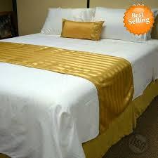 oxford super blend hotel jacquard stripe bed runners scarfs 100