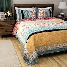 Moroccan Bed Set Bohemian Bed Comforters Moroccan Mandala Green Gold Reversible