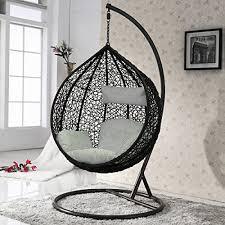 chaise suspendu intérieur extérieur rotin tissage balançoire de jardin chaise
