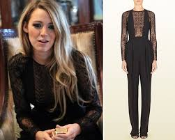 gucci jumpsuit lively in gucci jumpsuit with lace fern detail