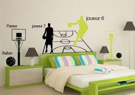 panier de basket pour chambre sticker mural basketball joueur 6 pour enfant par décorécébo