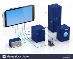 Home Internet by Internet Of Things Concept Home Appliances Connected To