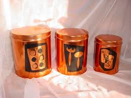 copper kitchen canister sets 49 best retro and vintage canister sets images on