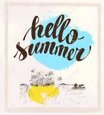 congratulation poster vector summer card with written text message