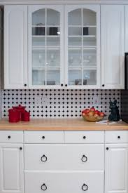 kitchen backsplash tile octagon u0026 dot matte white with black