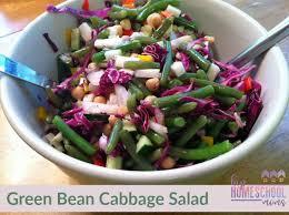green bean cabbage salad hip homeschool moms
