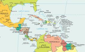 Map Of The Caribbean Central America Caribbean Pbd Children S Art Museum And Map Of