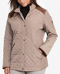 Plus Size Quilted Barn Jacket Quilted Womens Coats Macy U0027s