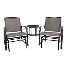 Textilene Patio Furniture by Backyard Expressions Tete A Tete Textilene Glider Set Backyard