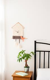 Modern Cuckoo Clock Yarn Cuckoo Clock Wall Hanging One Dog Woof