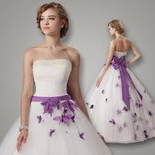 purple white wedding dress newest white and purple wedding dresses gown 2016 strapless