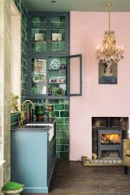 221 best subway backsplash images on pinterest subway backsplash we love the high variation of these gorgeous green handmade tiles in this london showroom