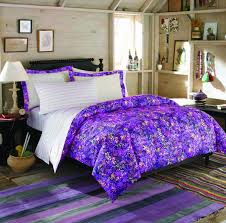 bedroom teen bedding sets with purple floral pattern