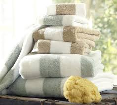 Decorate Bathroom Towels Pb Classic Stripe Bath Towels Pottery Barn
