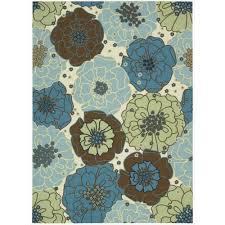 amazon com nourison home u0026 garden rs021 light blue rectangle