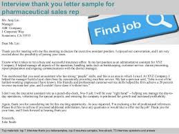Thank You Letter Sles After pharmaceutical sales rep