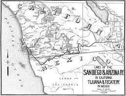 San Diego Bay Map by South Bay Historical Society