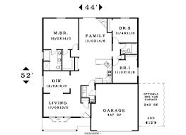 single story house plan one level floor plans 3 bed exles of habitat homes for fresh