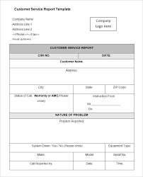 sample service report template 6 free word pdf documents