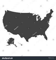 Vector Usa Map by Usa Map Black On White Background Stock Vector 589926494