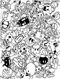 free doodle art coloring pages adults bbc54
