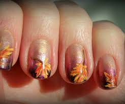 nail for thanksgiving fall nail gallery in bodacious fall leaves nail nail