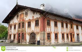 Haus Deutschland Haus Im Bayern Deutschland Dorf Oberammergau Stockfoto Bild