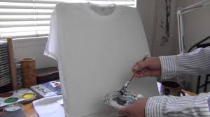 how to paint t shirts with liquid acrylic paints youtube