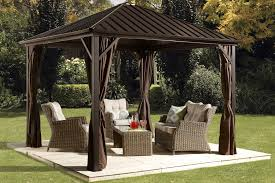Outdoor Gazebo With Curtains by Backyard Design Outdoor Steel Gazebos Curtains Carolbaldwin