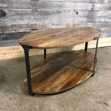 Mango Wood Coffee Table Industrial Oval Mango Wood Coffee Table Rustic Furniture Outlet