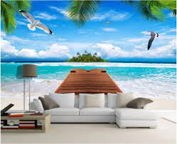 compare prices on coconut tree photo online shopping buy low wdbh custom mural photo 3d wallpaper sea view island coconut tree home decoration painting 3d wall