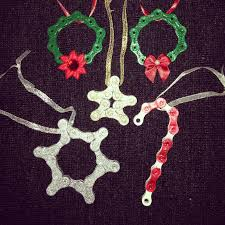 bicycle bike chain ornament choose from wreath