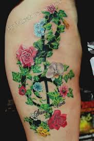 Flowers On Vines Tattoo Designs - 10 nice ivy tattoos on leg