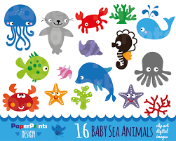 sea animals clipart 98629