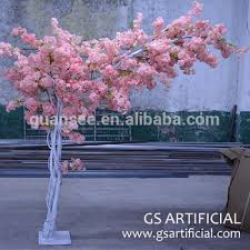 2 meters small size artificial cherry blossom tree one side branches
