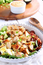 cuisine paleo paleo chicken cobb salad with buffalo ranch whole30
