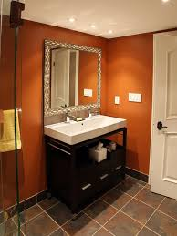 Guest Bathroom Decor Ideas Colors 78 Best Orange Bathrooms Images On Pinterest Orange Bathrooms